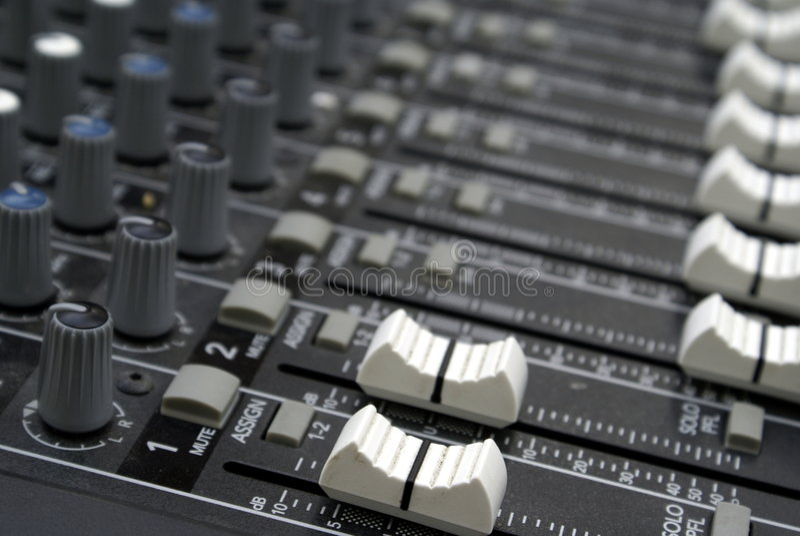 faders melanżeru dźwięk obraz royalty free