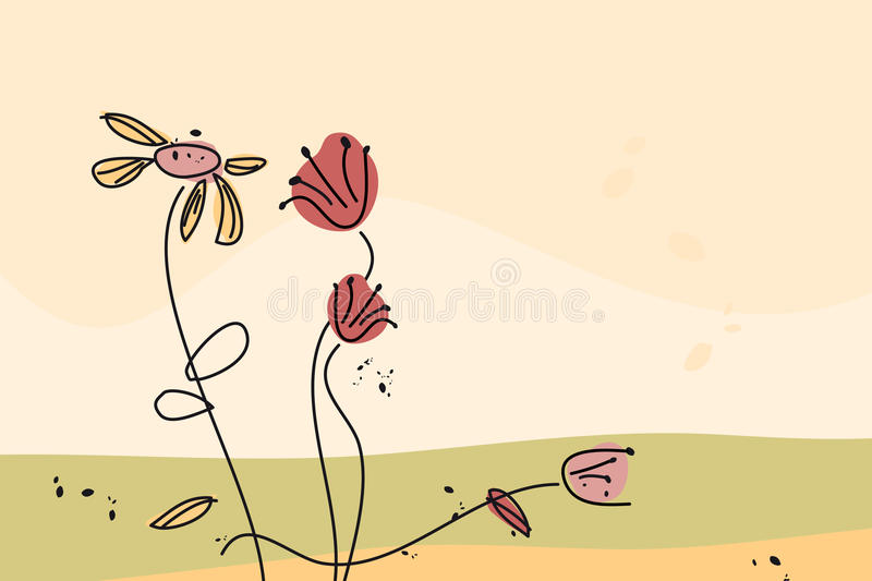 Download Fading flowers stock vector. Illustration of vector, draw - 11055132