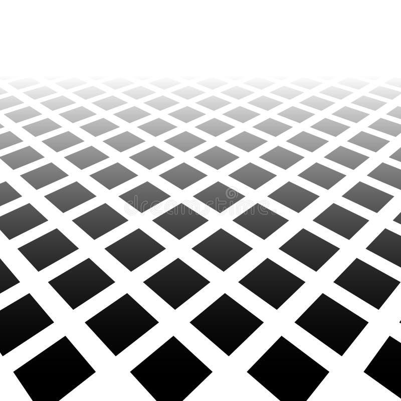 Fading mozaika kwadraty Ginący wzór w perspektywie ilustracji