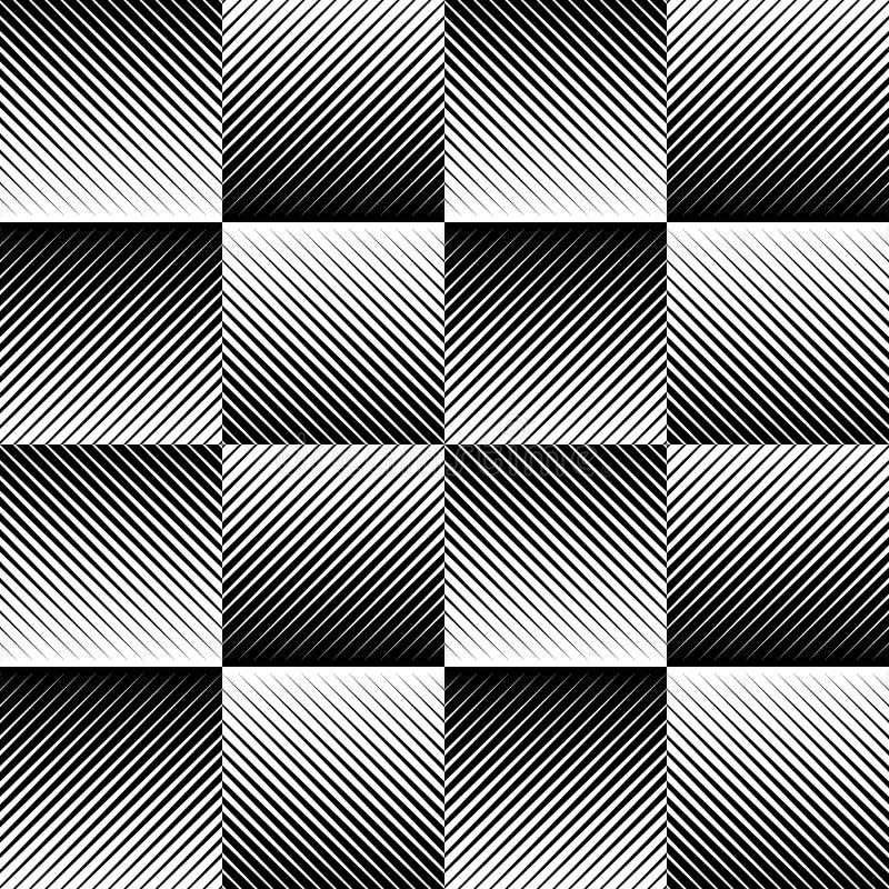 Fading mozaika kwadraty Ginący wzór w perspektywie royalty ilustracja