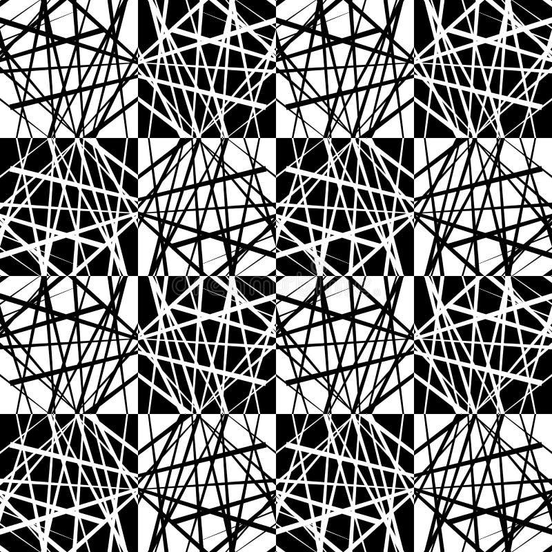 Fading mozaika kwadraty Ginący wzór w perspektywie ilustracja wektor