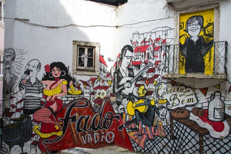Fado Graffitti lizenzfreie stockbilder