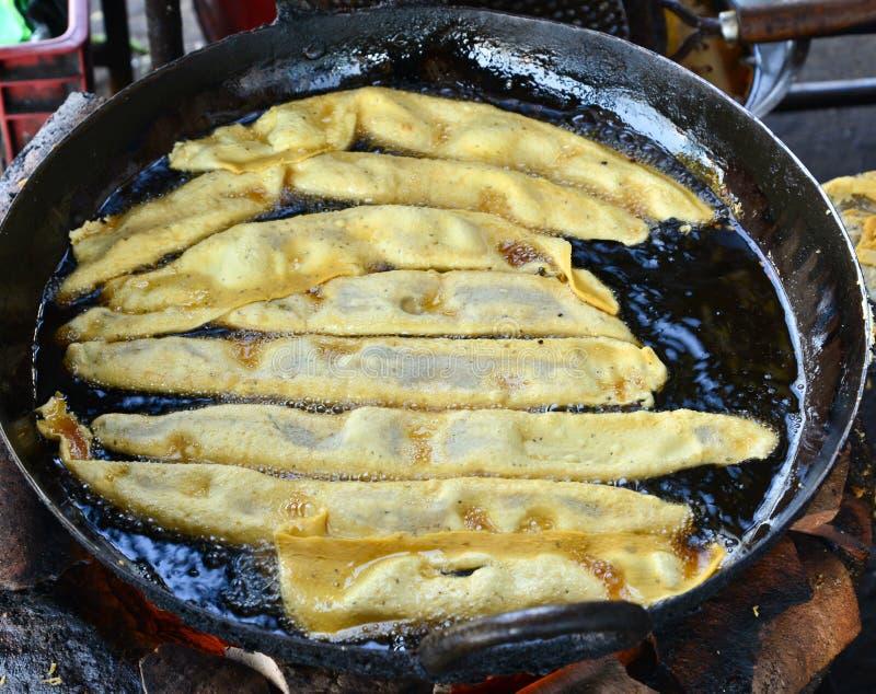 Fafda - gujrati被做的快餐早餐 图库摄影