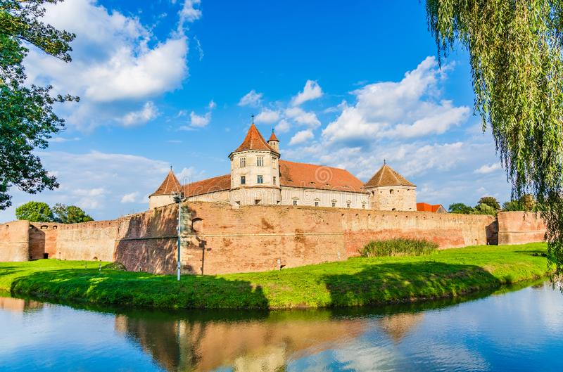 Fagaras fortress in Brasov County, Transylvania, Romania royalty free stock image