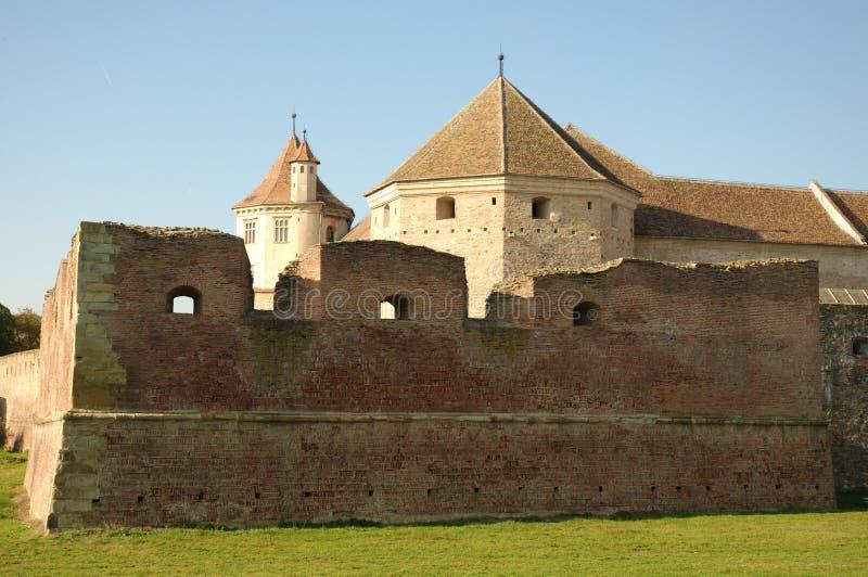 Fagaras fortificó la fortaleza de Transilvania fotos de archivo libres de regalías