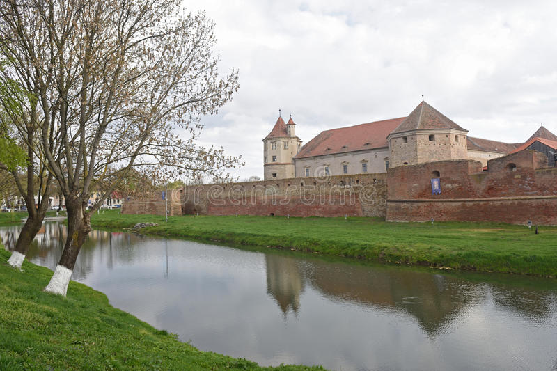 Fagaras Fortress in Brasov County, Romania stock photos