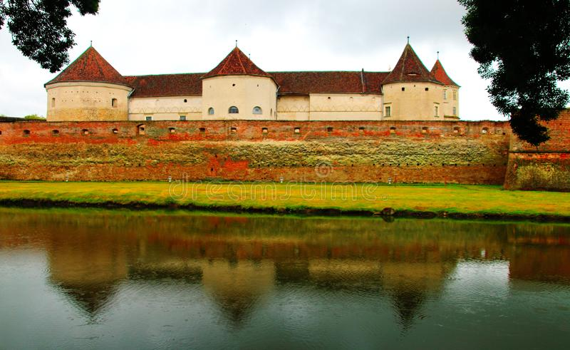 Fagaras Fortress- medieval fortress in Brasov, Romania stock photo