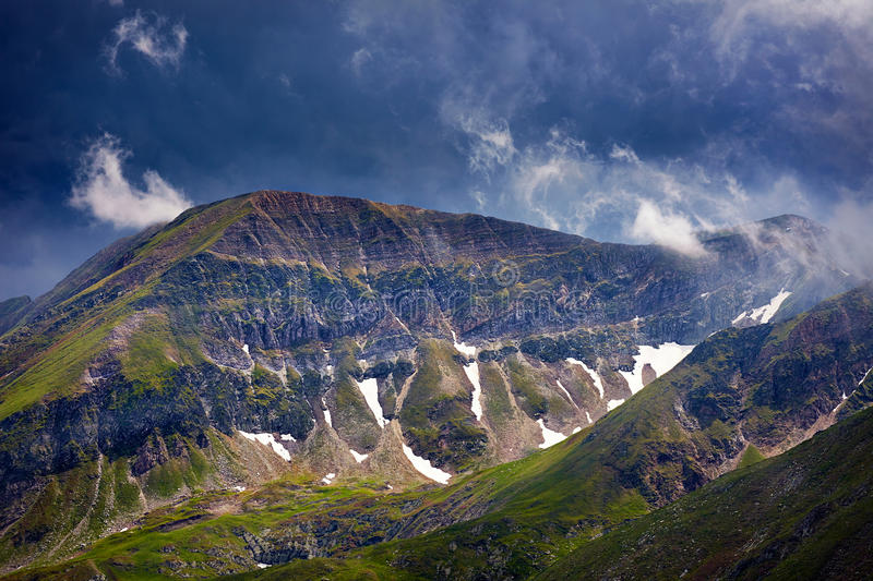 Fagaras mountains in Romania. Landscape with the spectacular Fagaras mountains in Romania stock images