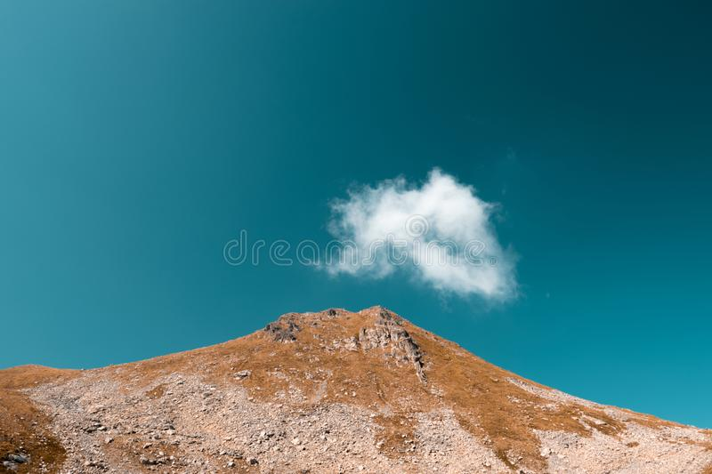 Fagatas mountains in Romania. beautiful summer nature scenery royalty free stock photography