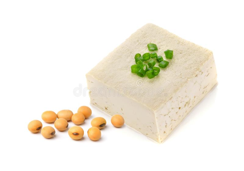 Fagioli del formaggio e della soia del tofu fotografie stock libere da diritti