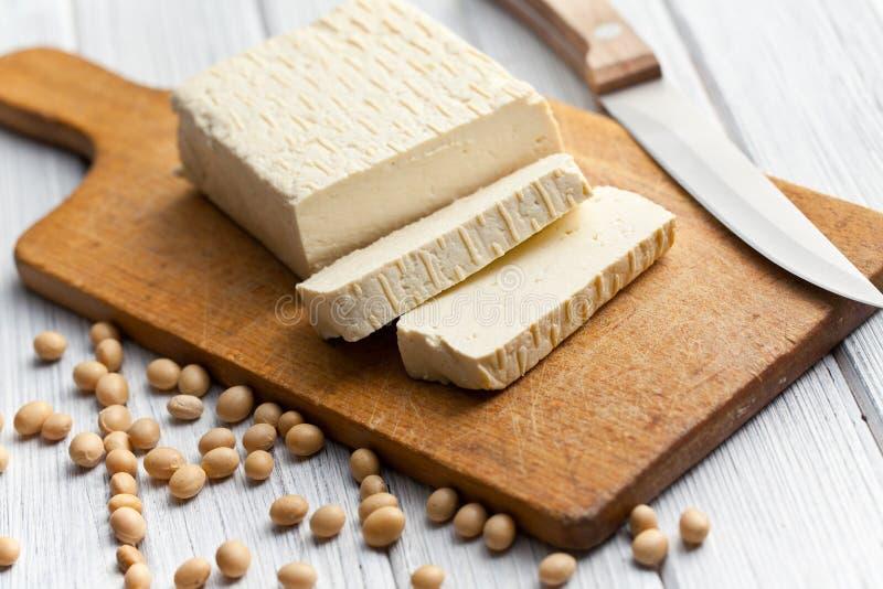 Fagioli della soia e del tofu immagine stock libera da diritti