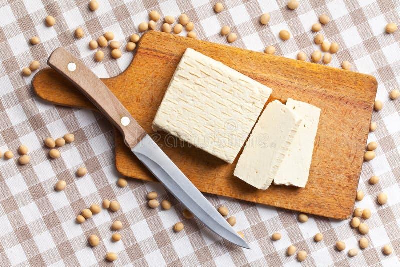 Fagioli della soia e del tofu immagini stock