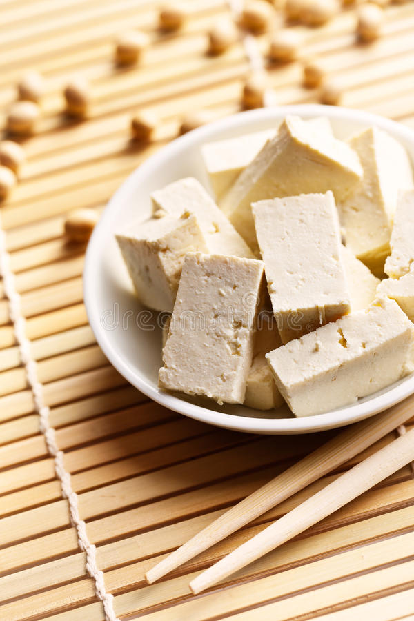 Fagioli della soia e del tofu fotografie stock libere da diritti