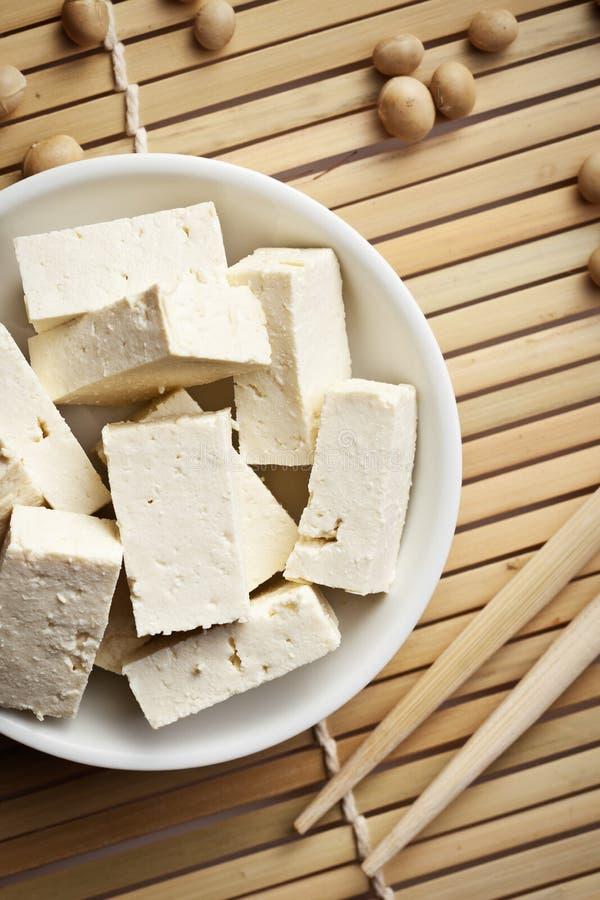 Fagioli della soia e del tofu fotografia stock