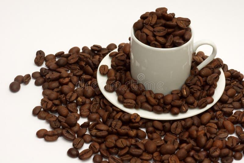 Download Fagioli Di Espressso In Tazza Del Caffè Espresso Fotografia Stock - Immagine di caffè, piastra: 7324154
