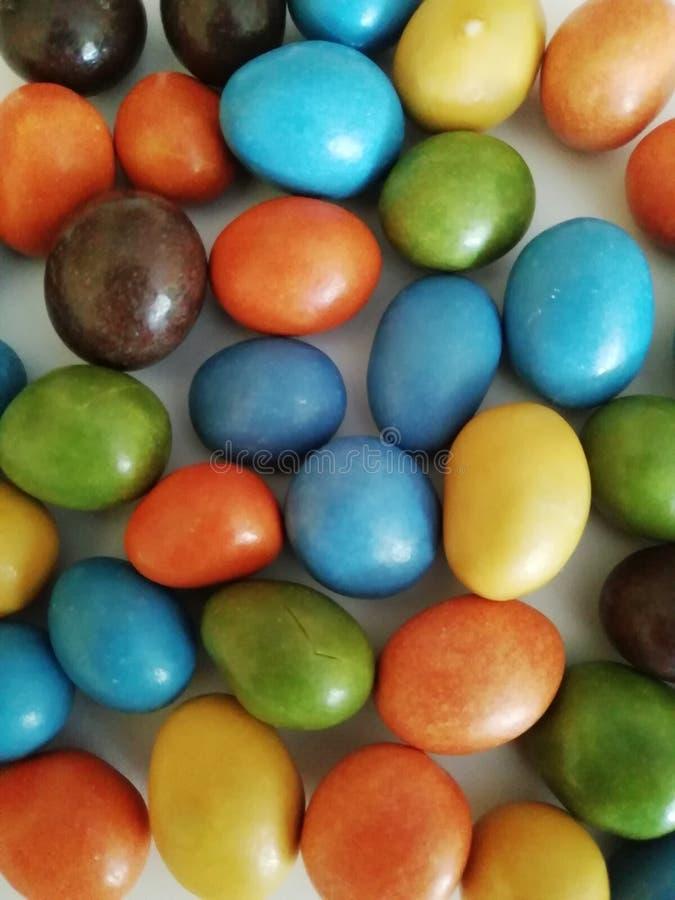 Fagioli di gelatina variopinti per uso del fondo per progettazione differente immagine stock libera da diritti