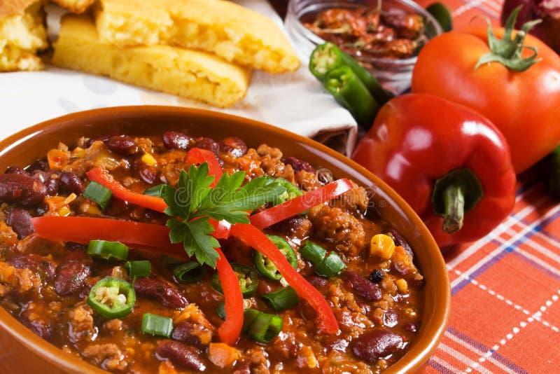 Fagioli messicani del peperoncino rosso fotografie stock libere da diritti