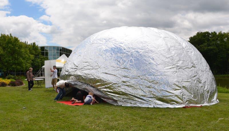 Fagiolo della nuvola ad Ann Arbor Mini Maker Faire fotografia stock libera da diritti