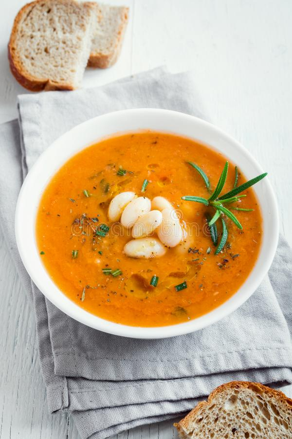 Fagiolo e minestra di verdura immagine stock