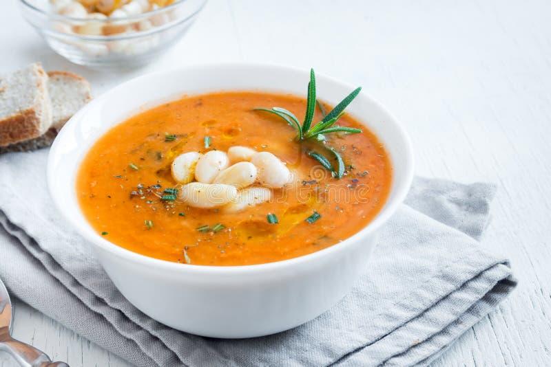 Fagiolo e minestra di verdura fotografie stock libere da diritti