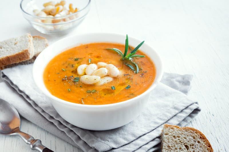 Fagiolo e minestra di verdura fotografia stock libera da diritti