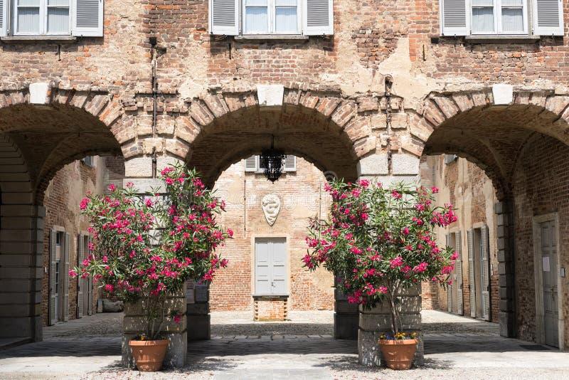 Fagnano Olona (Ιταλία), το κάστρο στοκ φωτογραφίες