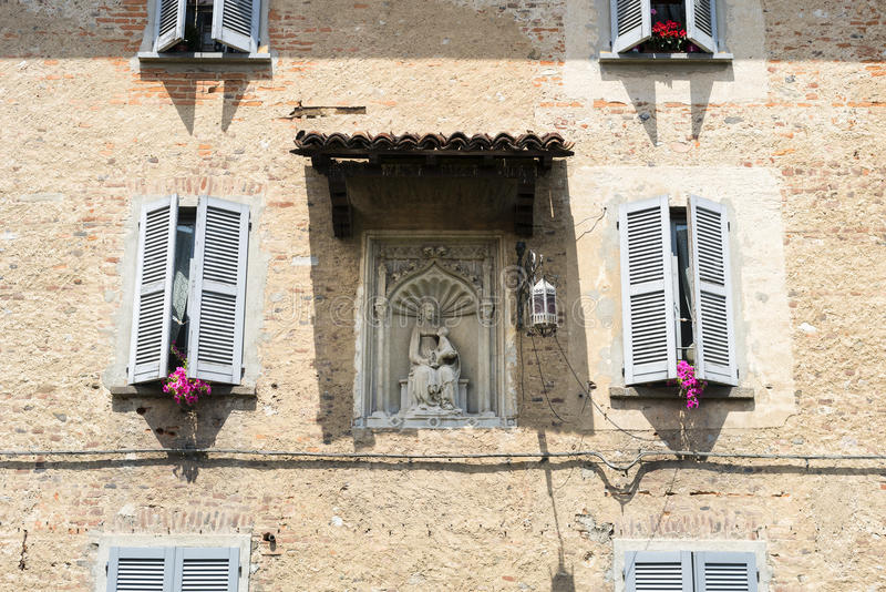 Fagnano Olona Ιταλία, το κάστρο στοκ εικόνες