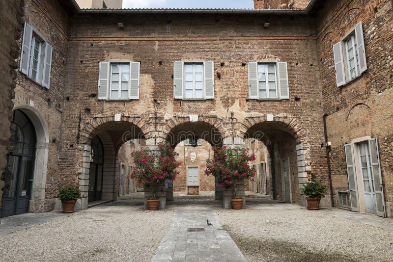 Fagnano Olona & x28 Italy& x29 , το κάστρο στοκ εικόνα