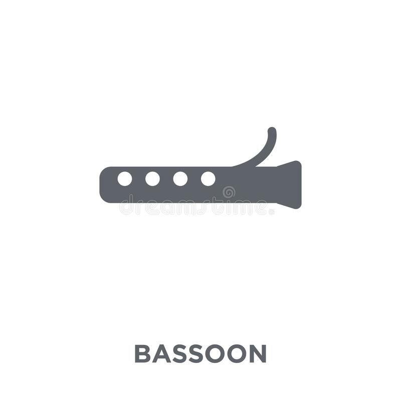 Fagotpictogram van Muziekinzameling vector illustratie