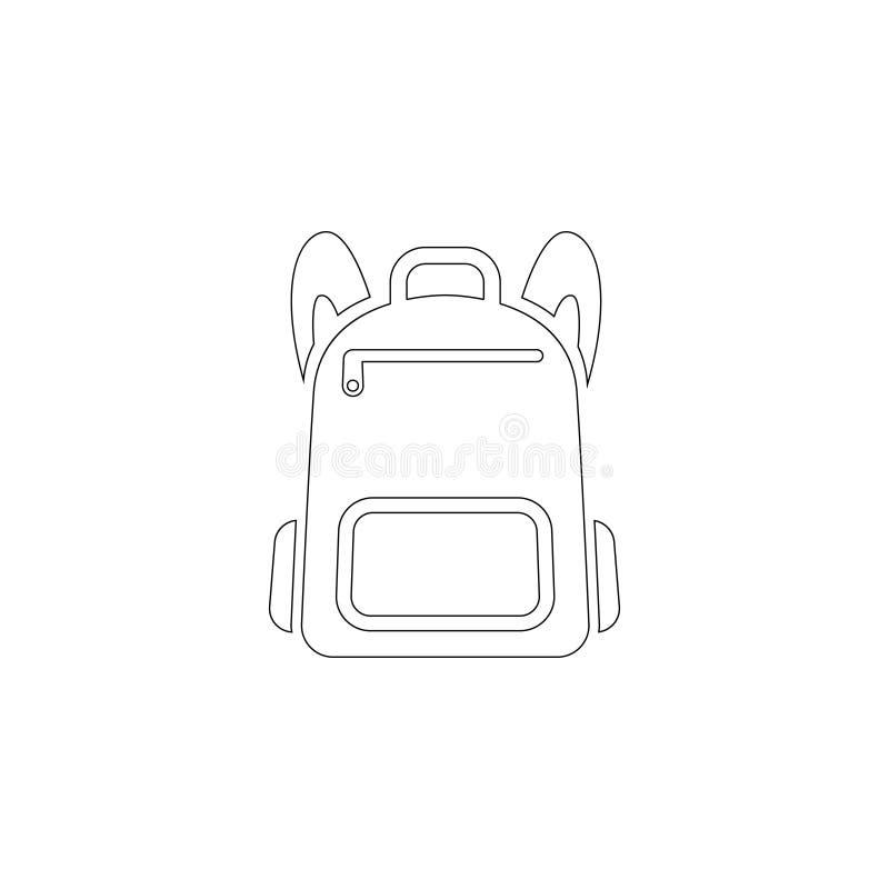 fagotto Icona piana di vettore illustrazione di stock