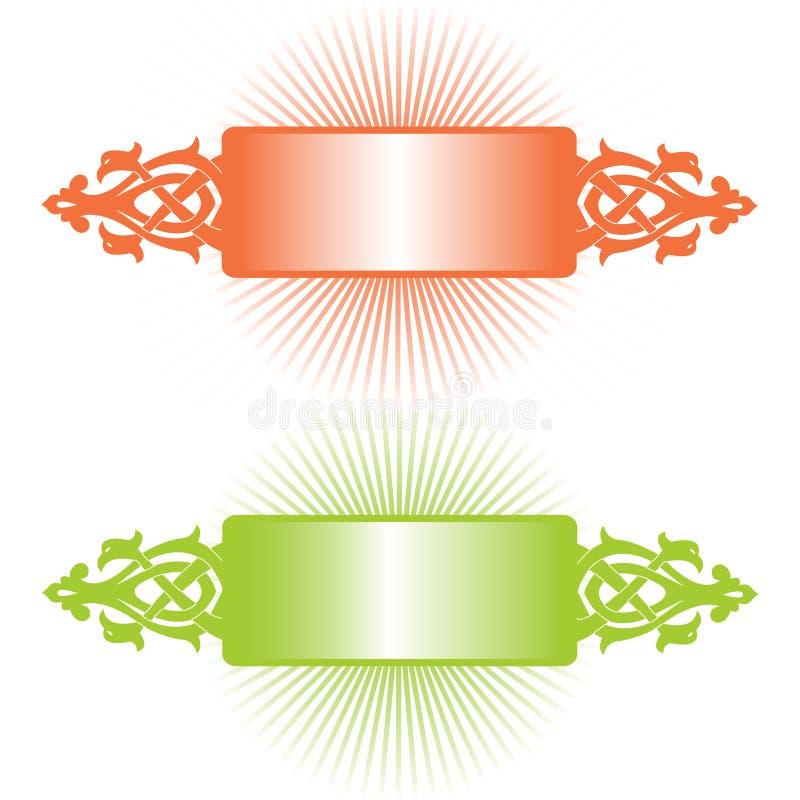 Fahne - alte russische Verzierung vektor abbildung