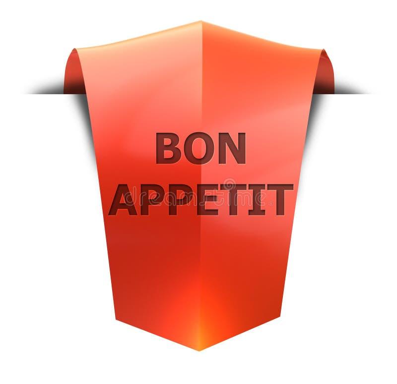 Fahne Bon appetit vektor abbildung