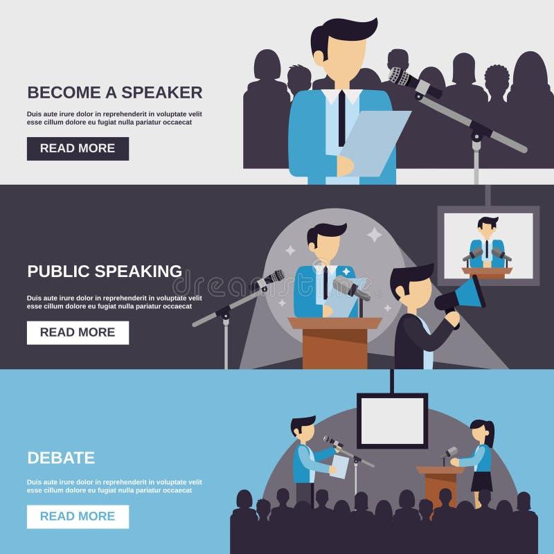 Fahne des öffentlichen Sprechens vektor abbildung