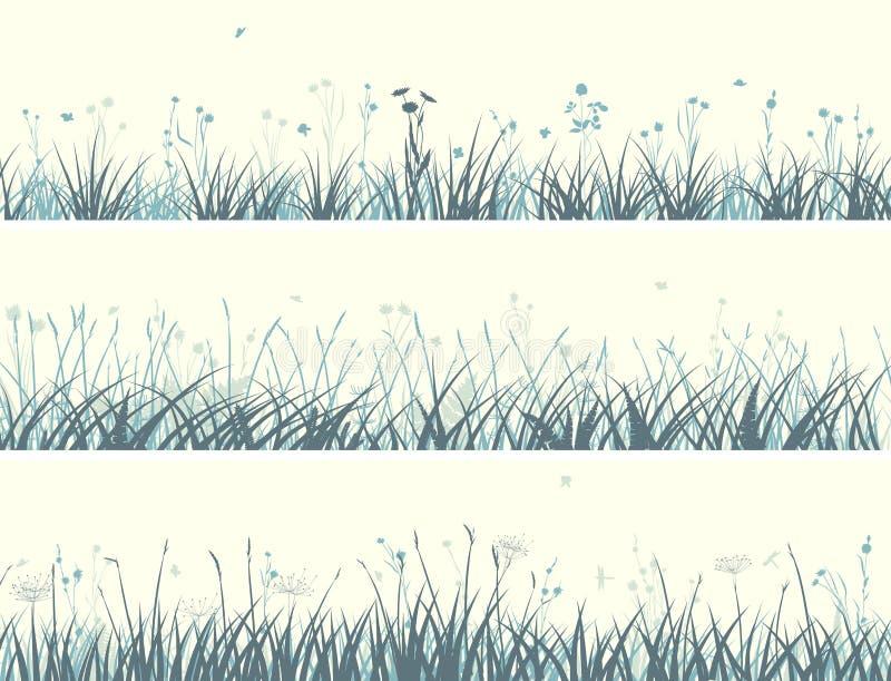 Fahne des abstrakten Wiesengrases. lizenzfreie abbildung