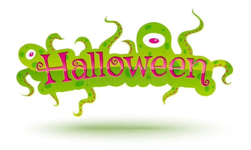 Fahne für Halloween lizenzfreie abbildung