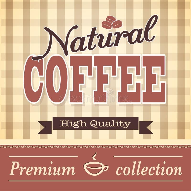 Fahne für Kaffee lizenzfreie abbildung