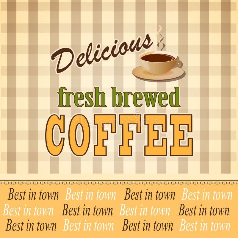 Fahne für Kaffee stock abbildung
