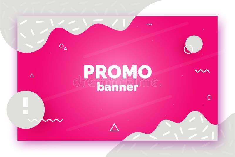 Fahne für Verkauf, Angebot, Förderung, Anzeige Modischer Vektorhintergrund, Flieger, Plakat, Seite, Abdeckung mit Zusammenfassung vektor abbildung