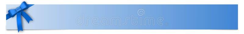 Fahne mit blauem Band und Platz für Ihren Text lizenzfreie abbildung
