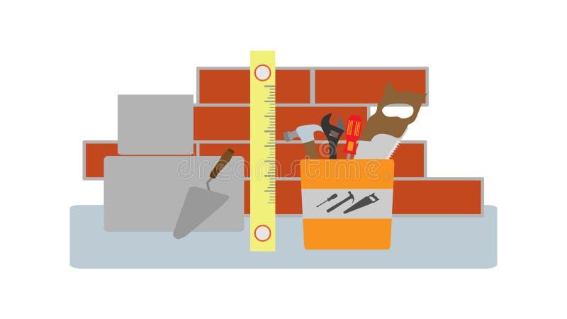 Fahne oder Illustration auf Reparatur lizenzfreie abbildung