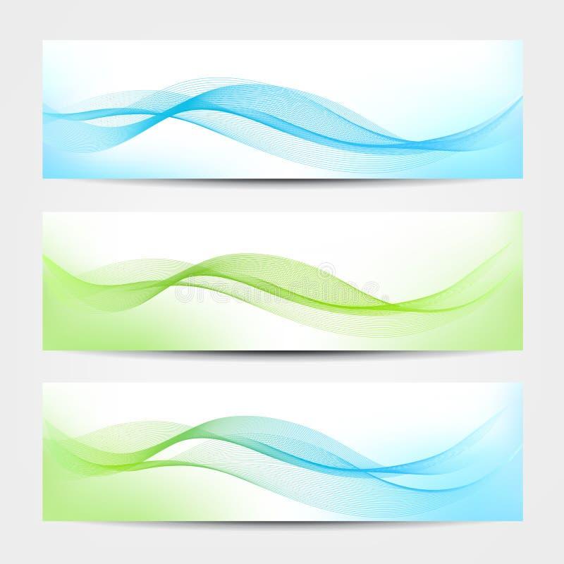 Fahne - Wasser-Wellen lizenzfreie abbildung