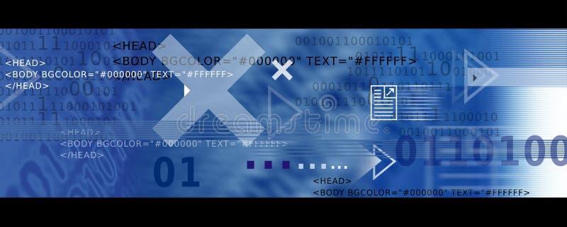 Fahnen-Bild-/Internet-Ikonen, Pfeile + HTML-Code stock abbildung