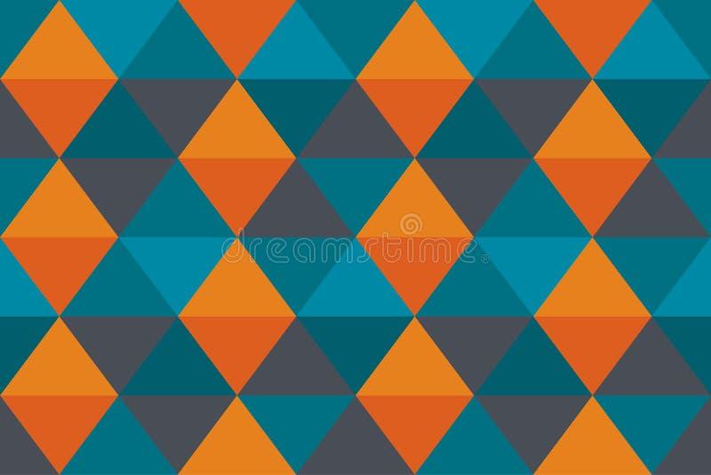 Fahnen-Dreiecktapete der abstrakten Beschaffenheit des Hintergrundes orange alte blaue modern stockfotografie