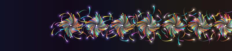Fahnen-Endstückeffekt RGB der Diamantform bunter stock abbildung