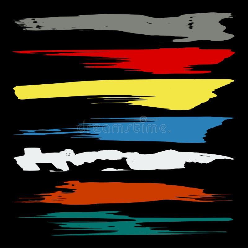 Fahnen färbten Graffitisammlungssymbol-Vektorillustration stock abbildung