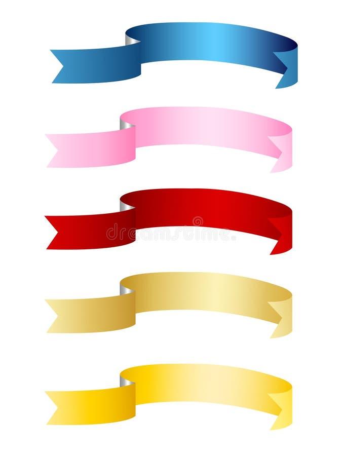 Fahnen, Farbbänder lizenzfreie abbildung