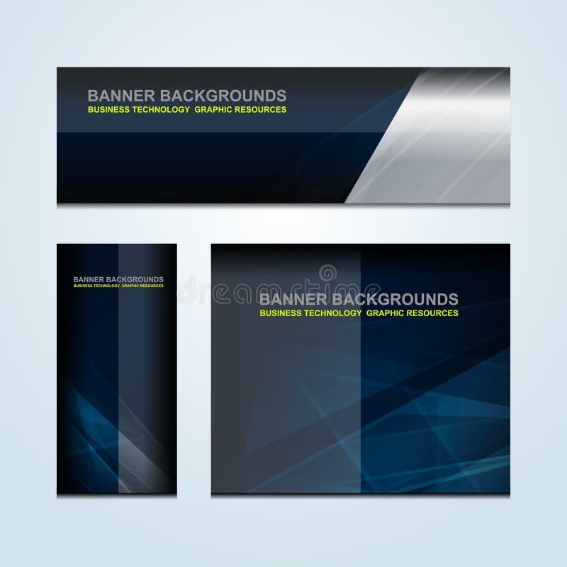 Fahnen-Geschäfts-Zusammenfassungs-Hintergründe lizenzfreie abbildung