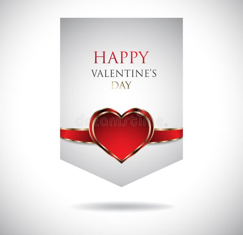 Fahnen. Glücklicher Valentinsgruß-Tag lizenzfreie abbildung