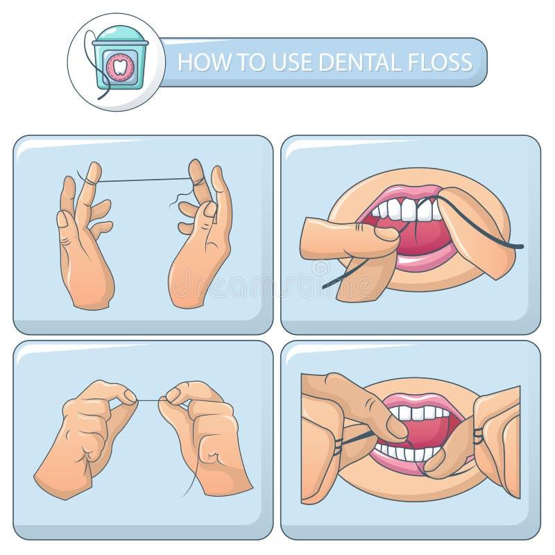 Fahnen-Konzeptsatz der Glasschlacke zahnmedizinischer, Karikaturart stock abbildung