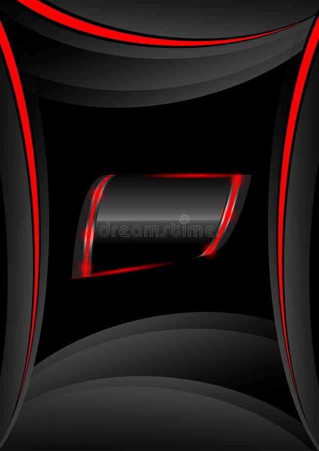 Fahnen mit rotem abstraktem Hintergrund stockbild
